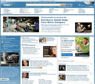 MSN redesigned